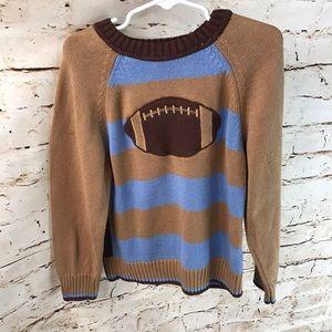 🌞Hartstrings Football Striped Boys Sweater